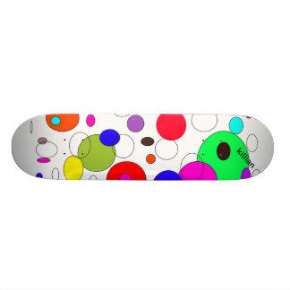 skridskon stiger ombord med coola cirklar old school skateboard bräda 21,6 cm
