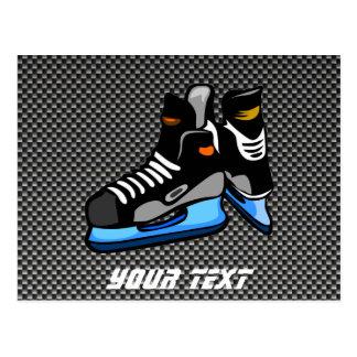 Skridskor för hockey för Fauxkolfiber Vykort