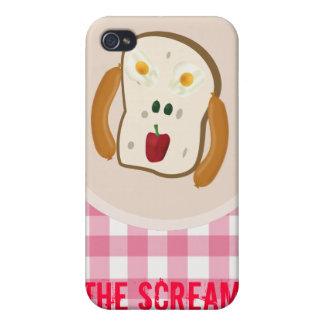 Skriet - 2 ägg, 2 oliv, peppar & hotdogs iPhone 4 hud