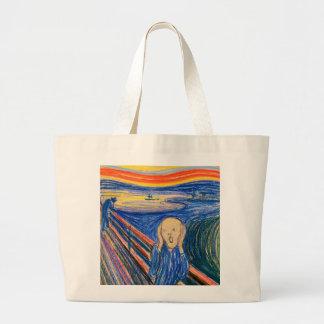 Skriet vid Edvard Munch (i pastell) modern konst Tygkassar