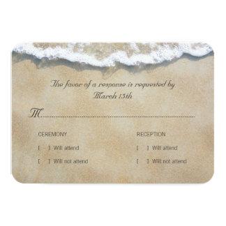 Skriftligt i Sandstrandbröllopet OSA 8,9 X 12,7 Cm Inbjudningskort