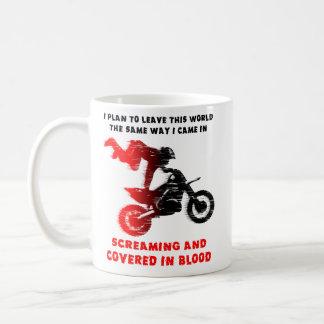 Skrikig mugg för Motocross för blodsmutscykel