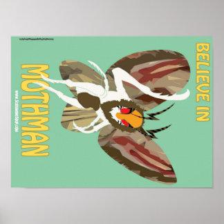 SKRIKIG SOPPA! Tro i den Mothman affischen Poster