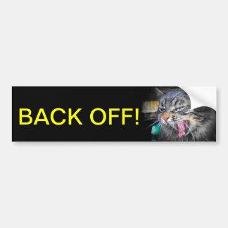 Skrikiga kattnågot att säga drar tillbaka av bildekal