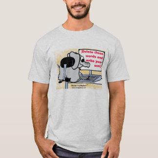 Skriv ditt egna meddelande på skjortan tee shirt