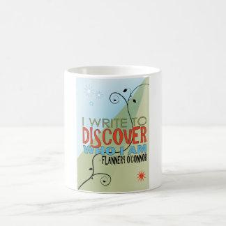 Skriv för att upptäcka kaffemugg