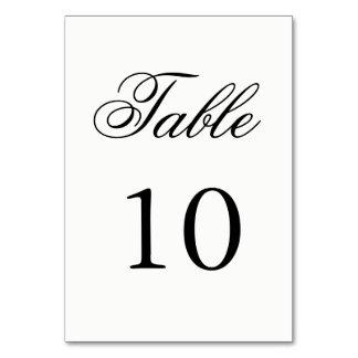 Skriva bordsnumret bordsnummer