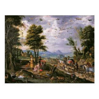 Skriva in ark vykort