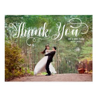 Skriva överdrar bröllopfototack vykort