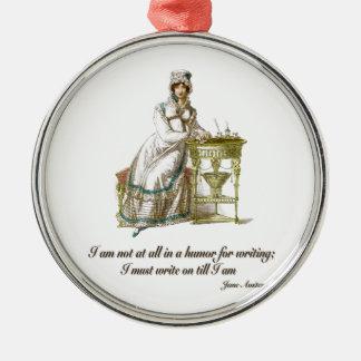Skriva på något att säga Jane Austen Julgransprydnad Metall