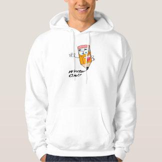 skrivan på höger på rolig lycklig ritar tecknaden hoodie