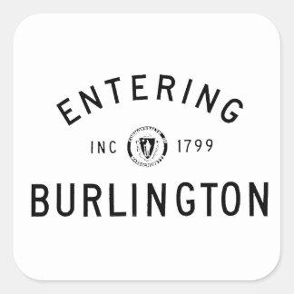 Skrivande in Burlington Fyrkantigt Klistermärke