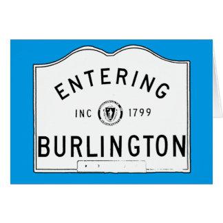 Skrivande in Burlington Hälsningskort