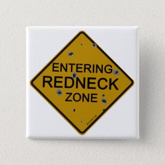 Skrivande in Redneckzon Standard Kanpp Fyrkantig 5.1 Cm