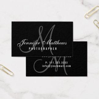 Skrivar den Minimalist eleganten för fotograf Visitkort
