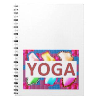Skrivar förtrollande energi för YOGA Anteckningsbok Med Spiral