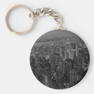 Skrivar gammal stil New York City för vintage Rund Nyckelring