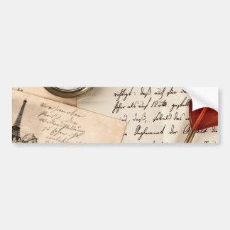 Skrivar gammalt papper för vintage vykortet för bildekal