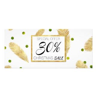 Skrivar guld- glitter för god jul rabattkortet reklamkort