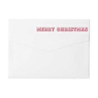 Skrivar röd djärv typografi för god jul etikettband