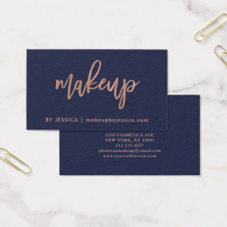 Skrivar rosa guld för fauxen på midnatt Makeup för Visitkort
