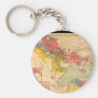 Skröplig världskarta 27 rund nyckelring