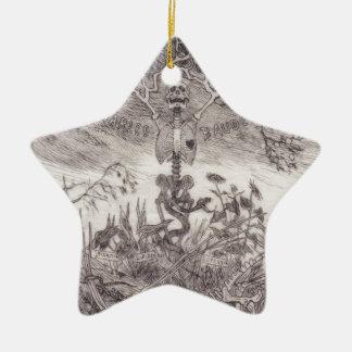 Skrotar vid Felicien Rops Stjärnformad Julgransprydnad I Keramik