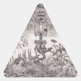 Skrotar vid Felicien Rops Triangelformat Klistermärke