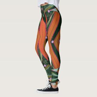 Skruva gräsrosett band leggings