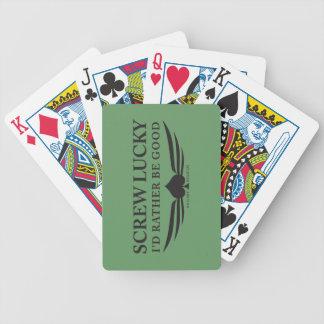 Skruva lyckligt (svarten) spelkort