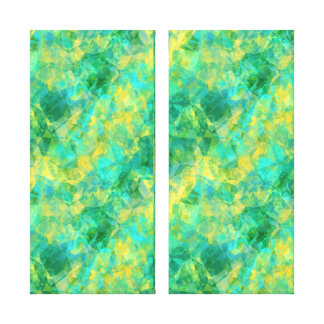 Skrynklig struktur för smaragd grönt canvastryck