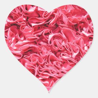Skrynkligt tyg Gorgeousness Hjärtformat Klistermärke