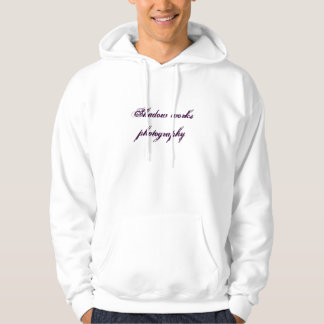 Skugga arbetsfotografi sweatshirt med luva