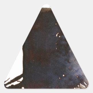 Skugga av monoliten triangelformat klistermärke