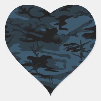 Skugga Camo Hjärtformat Klistermärke