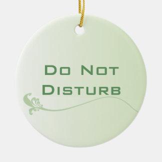 Skuggad grönt störer inte dörrhängaren julgransprydnad keramik