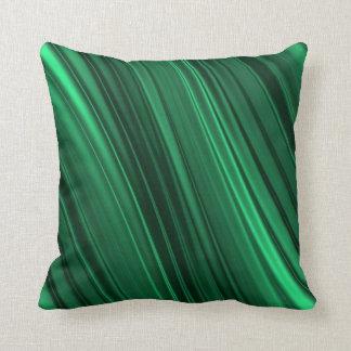 Skuggade randar för smaragd grönt kudde