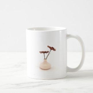 Skuggar av beige kaffemugg