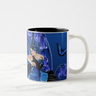 Skuggar av blått - kaffemugg