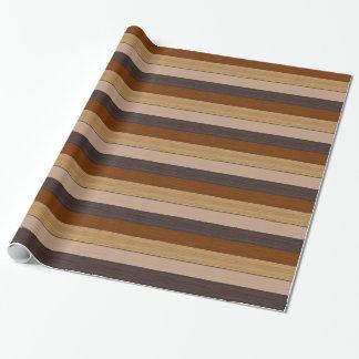 Skuggar av brunt Wood strukturrandmönster Presentpapper