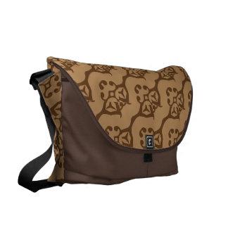 Skuggar av bruntet, art nouveau kurir väska