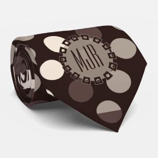 Skuggar av bruntet sätta en klocka på polka slips