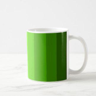 Skuggar av den gröna muggen kaffemugg