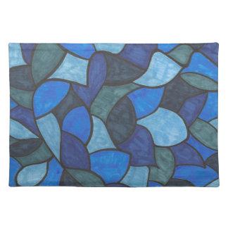 Skuggar av det matta blåttstället bordstablett