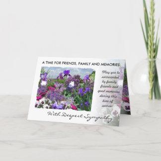 shades of purple sympathy card 15a