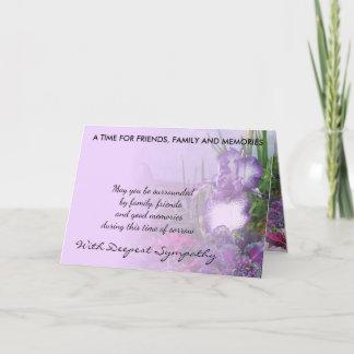 shades of purple sympathy card 16b