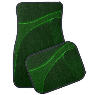 Skuggar av elektrisk auroragrönt bilmatta