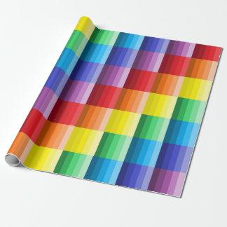 Skuggar av färger som slår in papper presentpapper
