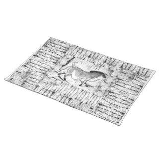 Skuggar av grå färggrottahäst bordstablett