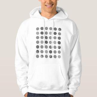 Skuggar av grå polka dots tröja med luva